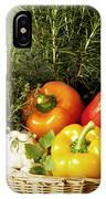 Vegetables And Aromatic Herbs In The Kitchen IPhone Case