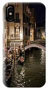 Venice Night By The Canal IPhone Case