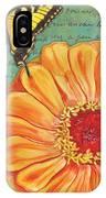 Verdigris Floral 1 IPhone Case