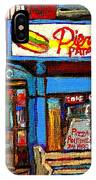 Verdun Restaurants Pierrette Patates Pizza Poutine Pepsi Cola Corner Cafe Depanneur - Montreal Scene IPhone Case