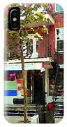 Verdun Variety Store Summer Street Scene Montreal Depanneur Double Staircases Carole Spandau IPhone Case