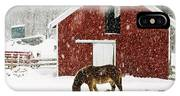 Vermont Christmas Eve Snowstorm IPhone Case