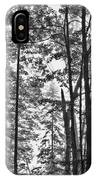 Vermont Forest Sunrise Ricker Pond Black And White IPhone Case
