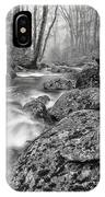 Vermont River Fog Mount Mansfield Black And White IPhone Case