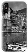 Vernazza - Cinque Terre In Grey IPhone Case