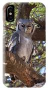 Verreauxs Eagle Owl In Tree IPhone Case