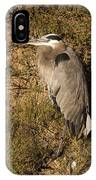Vertical Heron Basking In The Morning Sun IPhone Case