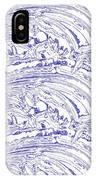 Vertical Panoramic Grunge Etching Royal Blue Color IPhone Case
