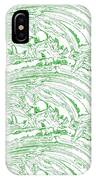 Vertical Panoramic Grunge Etching Sage Color IPhone Case