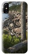 Vertical Photograph Of The Rocky Shore In Acadia National Park IPhone Case