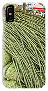 Very Long String Beans In Mangal Bazaar In Patan-nepal IPhone Case