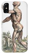 Vesalius: Muscles 02, 1543 IPhone Case