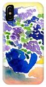 Vase With Lilas Flowers IPhone Case