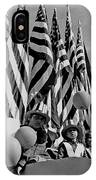 Veteran's Day Parade University Of Arizona Tucson Black And White IPhone Case