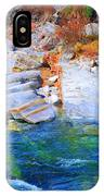Vibrant Colored Rocks Verzasca Valley Switzerland II IPhone X Case