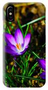 Vibrant Crocuses IPhone Case