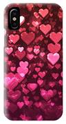 Vibrant Pink And Red Bokeh Hearts IPhone Case