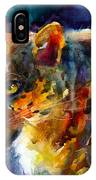 Vibrant Watercolor Leopard Wildlife Painting IPhone X Case