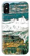 Victoria Glacier From Plain Of Six Glaciers Trail In Banff Np-ab IPhone Case