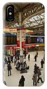 Victoria Railway Station London  IPhone Case