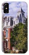 Victorian Home In Autumn Photograph As Gift For The Holidays Print IPhone Case