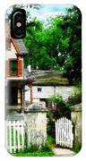 Victorian Home With Open Gate IPhone Case