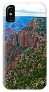 View Five From Walhalla Overlook On North Rim Of Grand Canyon-arizona IPhone Case