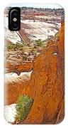 View From Above Capitol Gorge Pioneer Trail In Capitol Reef National Park-utah IPhone Case