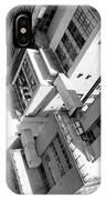 View From Edificio Martinelli Bw - Sao Paulo IPhone Case