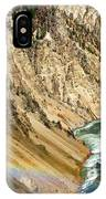 View From Lower Falls Of The Yellowstone River  IPhone Case