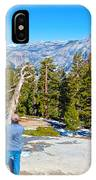 View From Near The Top Of Sentinel Dome In Yosemite Np-ca IPhone Case