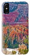 View From Queen's Garden Trail In Bryce Canyon National Park-utah IPhone Case