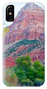 View From South Campground In Zion Np-ut IPhone Case