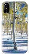 View Of Aspens In Fresh Winter Snow IPhone Case