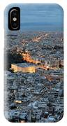 View Of Athens During Dawn IPhone Case