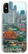View Of Bangkok Buildings From Grand China Princess Hotel In Bangkok-thail IPhone Case