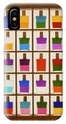 View Of Bottles Used In Aura Soma Colour Therapy IPhone Case