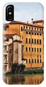 View Of Florence Along The Arno River IPhone Case