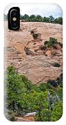 View Of Rock Dome Surface From Sandal Trail Across The Canyon In Navajo National Monument-arizona IPhone Case