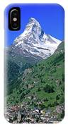 View Of The Matterhorn And The Town IPhone Case