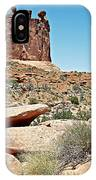 View Of Three Gossips In Arches Np-ut  IPhone Case