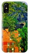View Of Train Tunnel IPhone Case