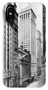 View Of Wall Street IPhone Case