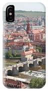 View Onto The Town Of Wuerzburg - Germany IPhone Case