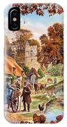 Village In Autumn IPhone Case