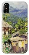 Village Scene In The Mountains IPhone Case