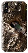 Viloet Winged Swallow-signed-#9682 IPhone Case