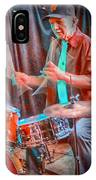 Vince Lateano On Drums IPhone Case