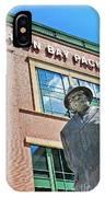 Vince Lombardi Statue Lambeau Field IPhone Case
