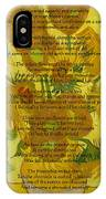 Vincent's Sunflower Song IPhone Case